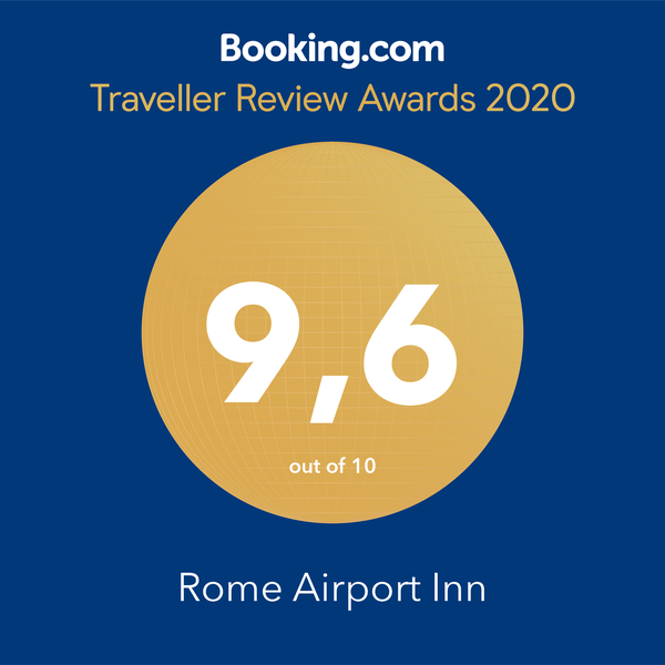 Booking.com 9.6 Traveller Review Awards 2020 Rome Airport Inn