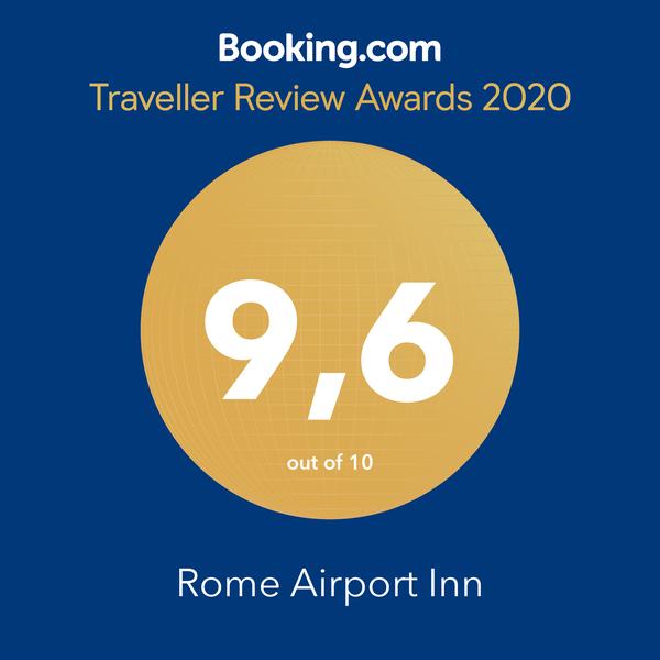 Booking.com 9.6 Traveller Review Awards 2020 Rome Airport Inn